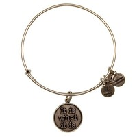 Alex and Ani It Is What It Is Charm Bangle - Russian Silver