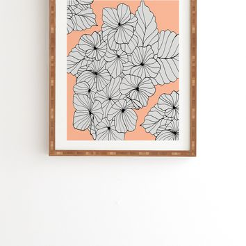 Gabi Hydrangea Peach Framed Wall Art