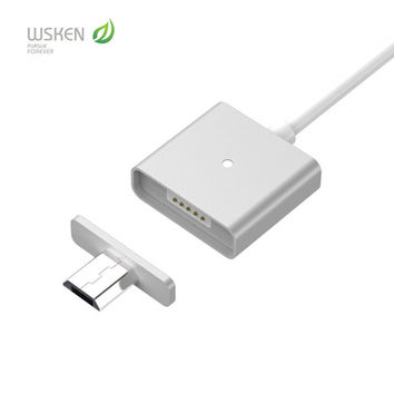 New Arrival Wsken Metal Magnetic Cable Data Charger Cable For Micro USB Android Phone/iphone 6 6s 2.4A Charging Cable with Retail Package