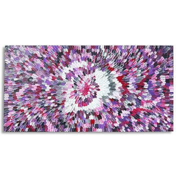 """Large Original Modern Abstract Texture Palette Knife Acrylic Painting """"50 SHADES OF PURPLE""""."""
