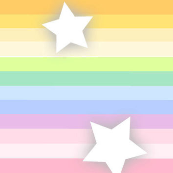 Shop Banner Avatar Set Etsy PASTEL STARS - OOAK Banners Custom Logo Professional - Bubble Letters, Space, Outer, Sky, White Stars