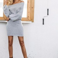 """Candice"" Off shoulder Sweater Dress"