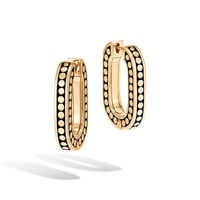 John Hardy Dot 18k Small Link Hoop Earrings