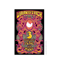 Woodstock - 3 Nights Bumper Sticker on Sale for $2.99 at HippieShop.com