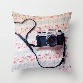 Pillow Cover, Photo PIllow, Modern Home, Camera Love, Pastel Color, Spring Decor, Living Room, Bedroom, 16x16, 18x18