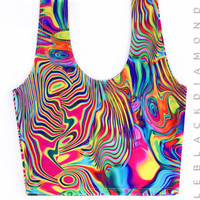 Acid Rainbow Crop Tank 2