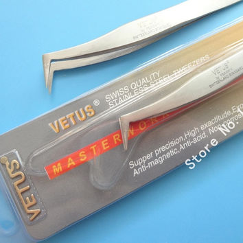 10 pcs VETUS Especially for 3D 6D Volume  Eyelash Extension Tweezers Free Shipping