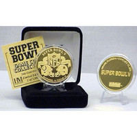 24kt Gold Super Bowl V flip coin