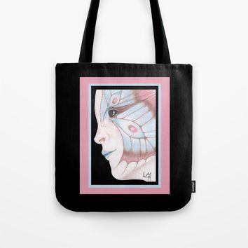 Butterfly Girl #2 Tote Bag by drawingsbylam