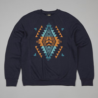 Flatspot - Benny Gold Native Crewneck Sweatshirt Navy