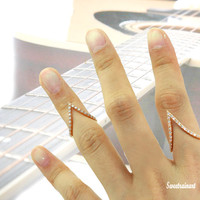 V ring/Musician ring/Directed ring/Guitarist Accessories/Sensational designer ring/Charismatic/Adjustable(3color)