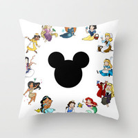 Time to be a Princess Throw Pillow by Katie Simpson