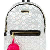 Heart Quilted Nylon Backpack