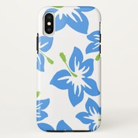 Exotic Blue Hibiscus iPhone X Case