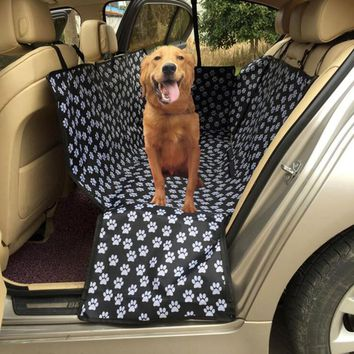 Oxford Fabric Paw pattern Car Pet Seat Covers Waterproof Back Bench Seat Travel Accessories Car Seat Covers Mat for Pets Dogs