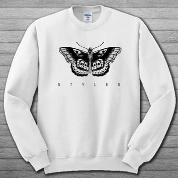 harry styles butterfly tatto Sweatshirt # For Women , Men  Sweatshirt