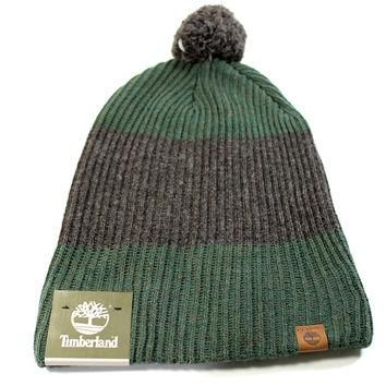 Timberland Unisex Adult Cuff Pom Slouch Forest Green Beanie Hat, One Size