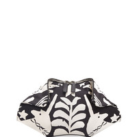 Small De-Manta Printed Leather Clutch Bag, Black/White - Alexander McQueen