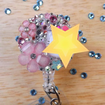Free Shipping ID badge holder-badge reel -Not Hello Kitty Crystals-Nurse Bling Reel Retractable