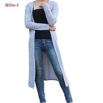 Women Cardigan Sweater casual Crochet Poncho Coat long Sweaters