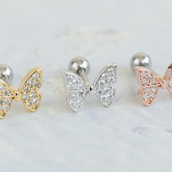 CZ Butterfly piercing-AED