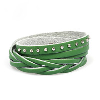 Men Bracelet Korean Handcrafts Bangle Accessory Leather Bracelet [6050415937]