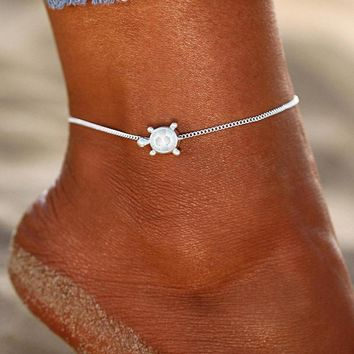 Turtle Cute Women Ankle Bracelet Ladies Anklet Ankle Chain Leg Jewelry Gold Silver Color