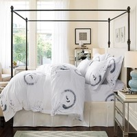 Five Stars Hotel 100% cotton satin Luxury white bedding set bed linen bedspreads duvet cover King Queen size beautiful folllower