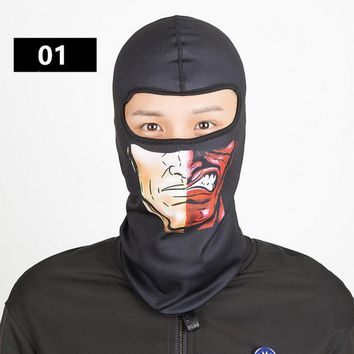 Halloween Balaclava Windproof dust-proof Full Face Neck Guard Masks Headgear Hat Riding Hiking Outdoor Sports Cycling Masks