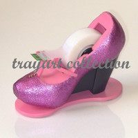 Swarovski Mary Jane Pink Sparkle Shoe TAPE by trayartStudio