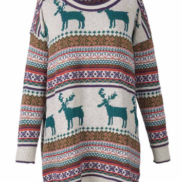 Cupshe Going Out Christmas Jacquard Sweater