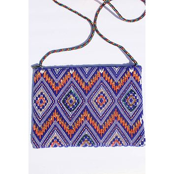 Justine Tribal Beaded Crossbody