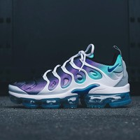 Nike Air Vapor max Plus Wave Type Leisure Transparent air cushion sole Sneskers B-CSXY White/Purple