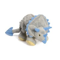GoDog Large Dino Frills Dog Toy with Chew Guard™ in Grey