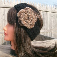 Flower Headband, Black, Hippie, Cro.. on Luulla