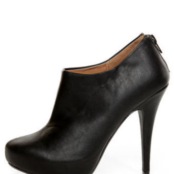 My Delicious Bank Black Shootie Platform Booties