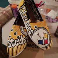 Custom STEELERS Handpainted TOMS by JRDesignsTX on Etsy