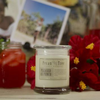 Pleased as Punch Soy Candle from Pecan Tree Candle Company