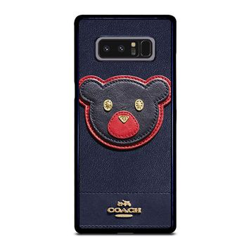 COACH NEW YORK BEAR Samsung Galaxy Note 8 Case Cover