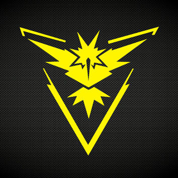 Team Instinct | Team Mystic | Team Valor | Pokemon Go Team Decal | Pokemon Go Club Teams Gyms | Pokemon Blue Yellow Red Zapdos Decal | 373