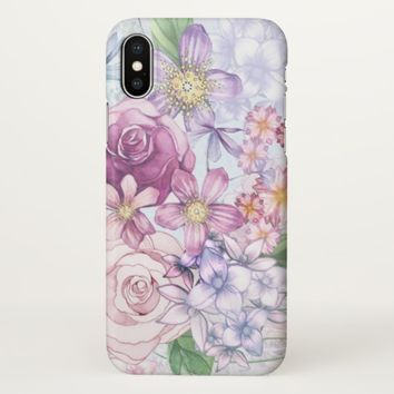 Claire Blossom elegant flower iPhone X Case