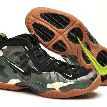 PEAPONVX Jacklish Nike Air Foamposite Pro Army Camo Black/green Camo-lt Brown