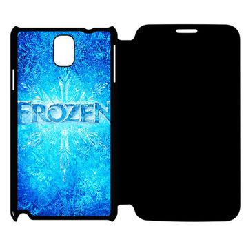 Frozen Sven Quotes Samsung Galaxy Note 4 Flip Case Cover