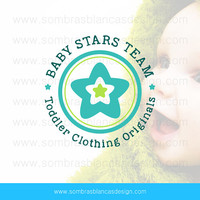 OOAK Premade Logo Design - Rounded Star - Perfect for a baby or toddler clothing shop or a handmade toys brand