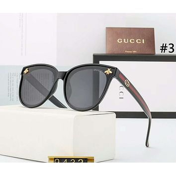 GUCCI Tide brand bee female models large frame retro polarized sunglasses #4