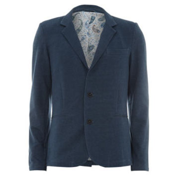Shred n Thread Blue Blazer With Paisley Lining