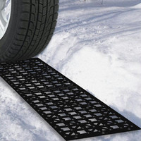 Car Tire Snow Grabber Mats   2 Pieces by Stalwart
