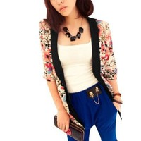 Ladies Floral Printed Half Sleeve Thin Summer Blazer