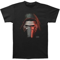 Star Wars Men's  Kylo Big Head T-shirt Black Rockabilia