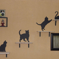 Cat Shelves. Cat Wall Perch Set. Cat Walk Perch